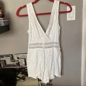 Kendall+Kylie White Lace Romper